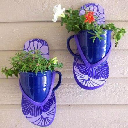 7 wall planter with cups and shoes 440x440
