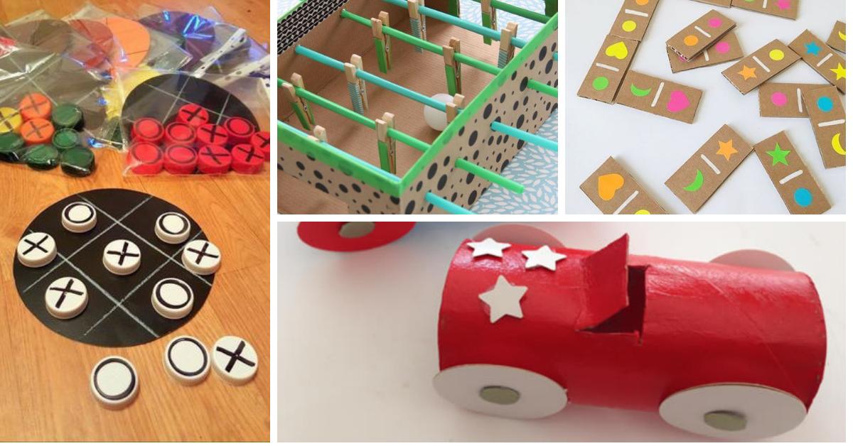 Artesanato Reciclagem para o Dia das Criancas