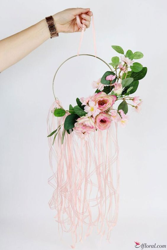 Hoop Wreath Diy Wedding