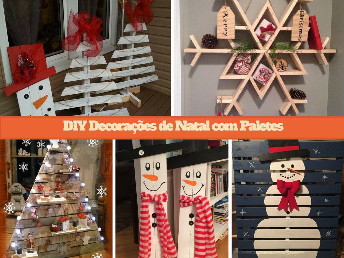 DIY Decorações de Natal com Paletes