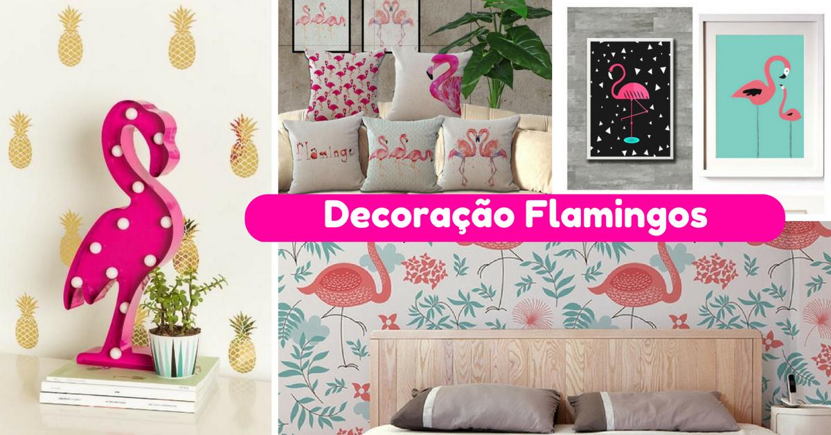 Decoração Flamingos