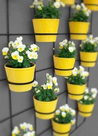 Decoração vasos flores parede 2