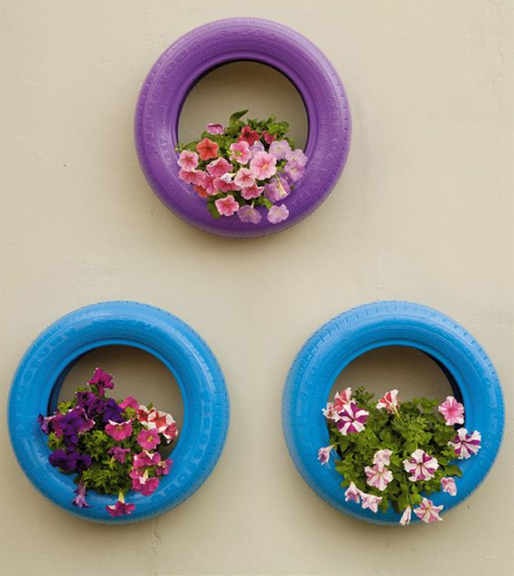 Decoração vasos flores parede