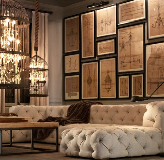 Decoracao sofas chesterfield 9