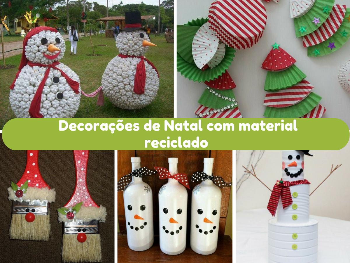 Diy Decorações de Natal com material reciclado