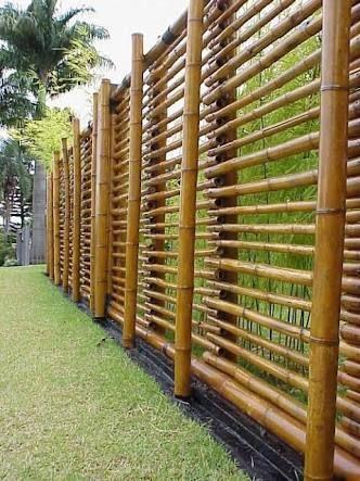 Ideias cercas bambu 1
