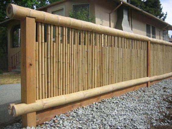 Ideias cercas bambu 2