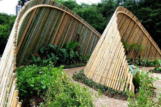 Ideias cercas bambu 4