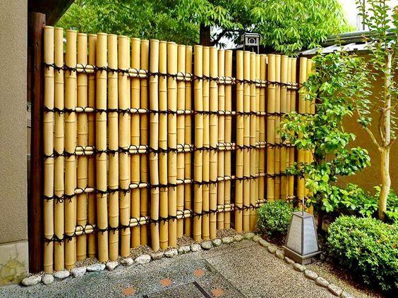 Ideias cercas bambu 5