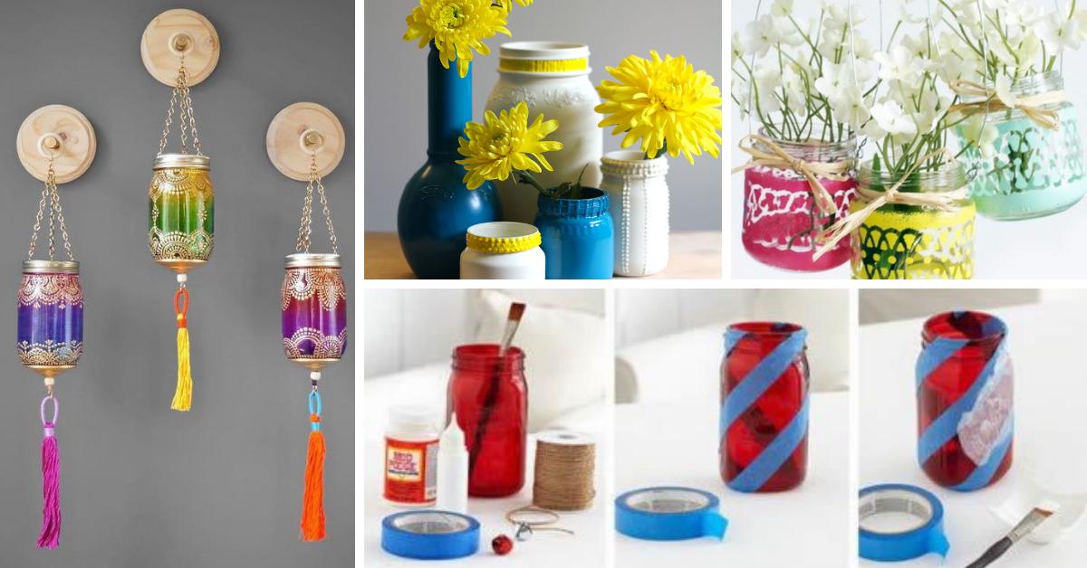 Ideias para reciclagem de Frascos de Vidro