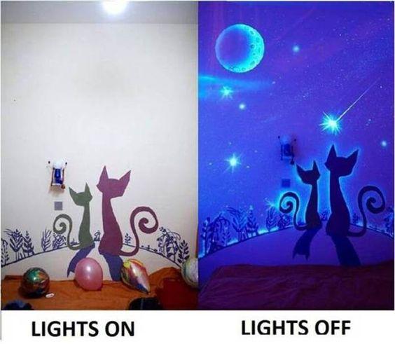 Paredes brilham escuro