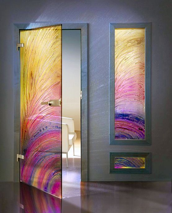 Porta vidro colorida