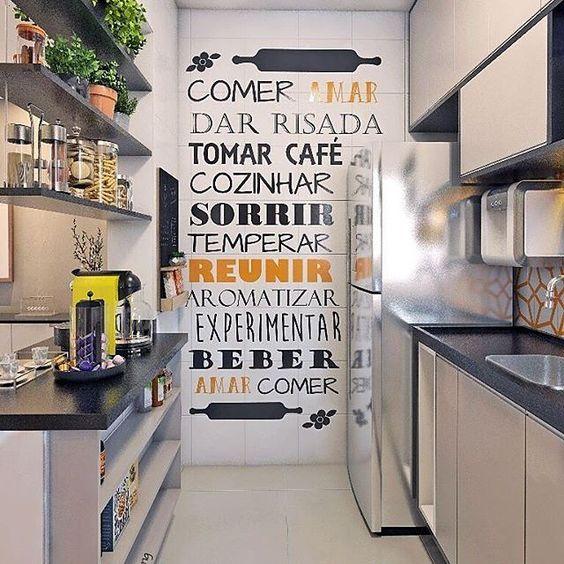 Artesanato Com Tecido E Cola ~ 10+ Ideias de Adesivos para a Cozinha