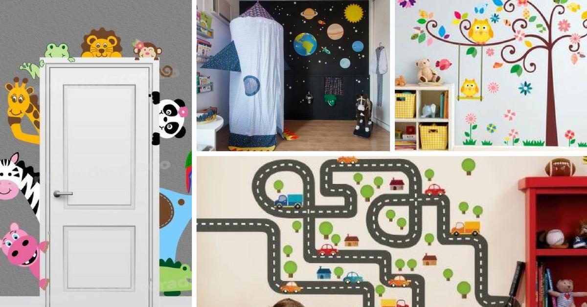 adesivos decoracao quarto criança
