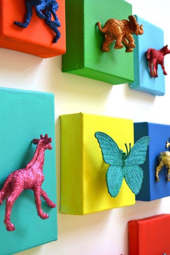 animais de plástico decoracao 2