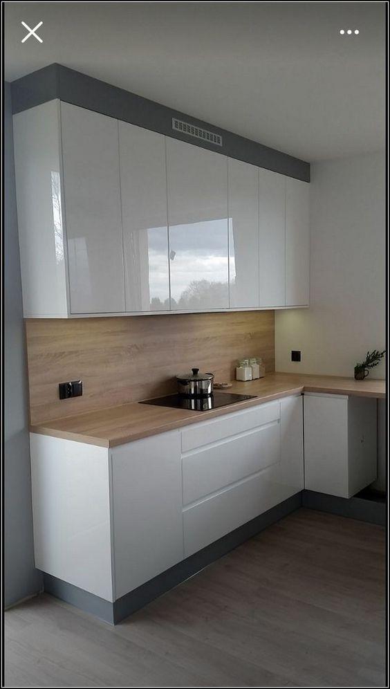 armario cozinha planejado bicolor