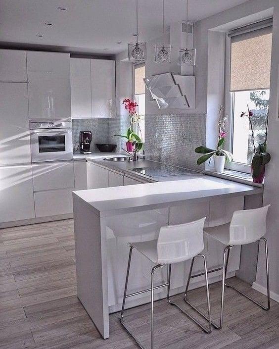 armario cozinha planejado branca