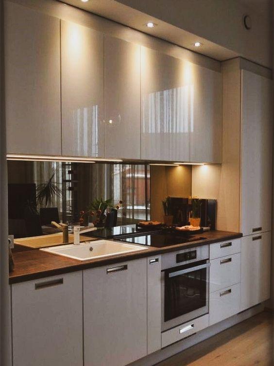 armario cozinha planejado brilhante