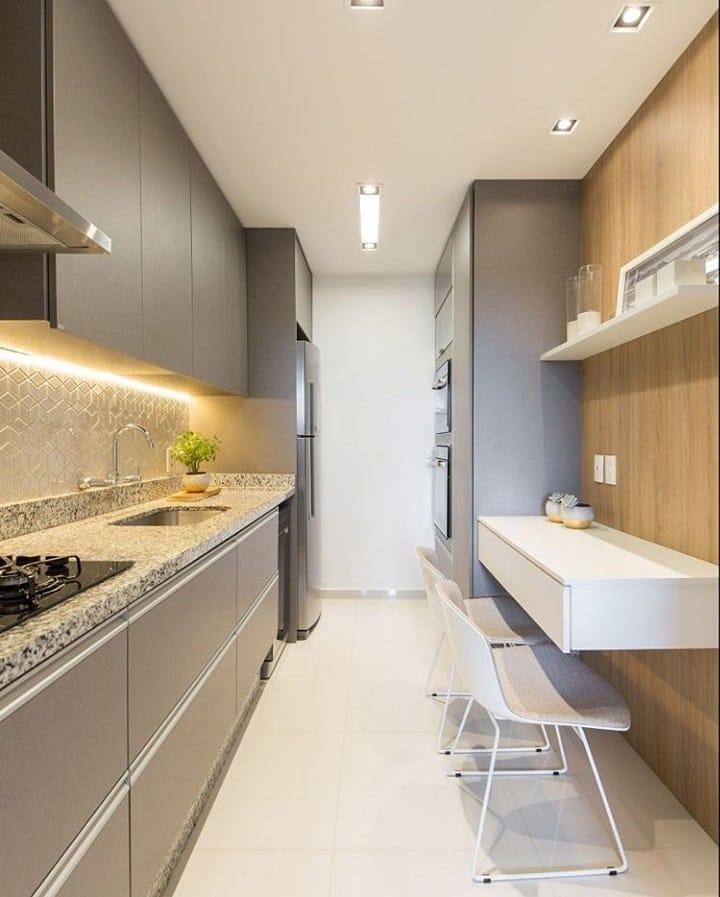 armario cozinha planejado cinza