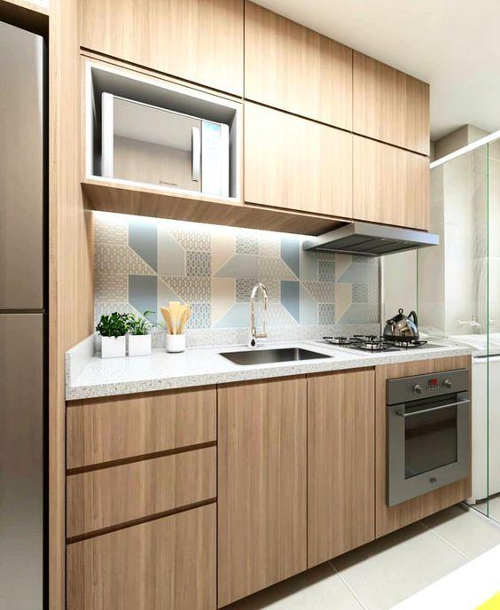 armario cozinha planejado madeira