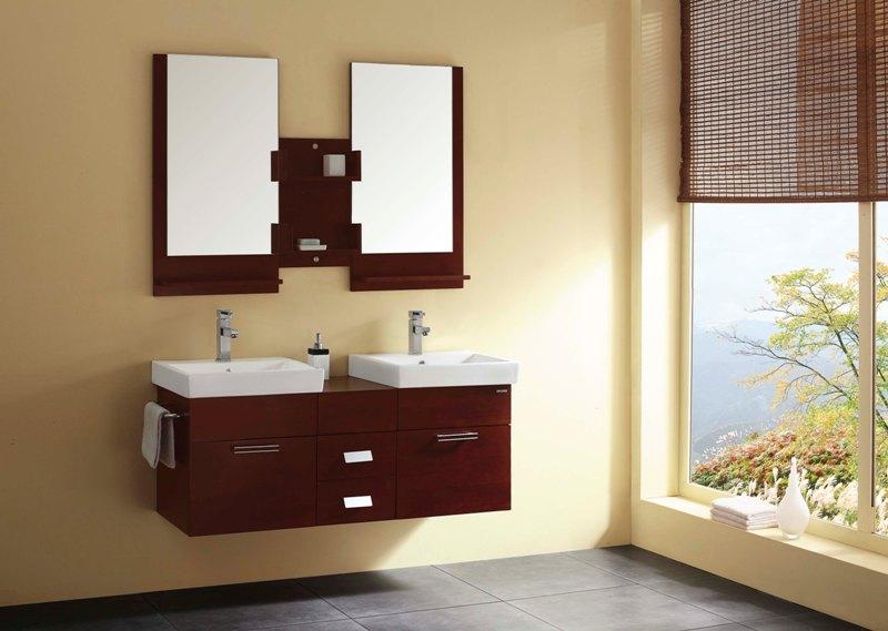 armario para banheiro em vermelho