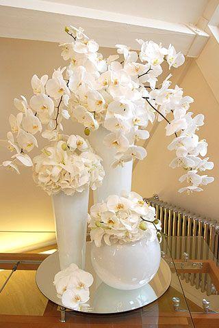 arranjos flores artificiais decoracao branco