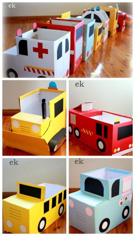 artesanato brinquedos dia criancas carros papelao