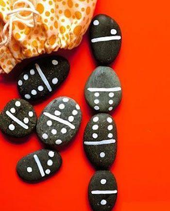 artesanato brinquedos dia criancas pedras