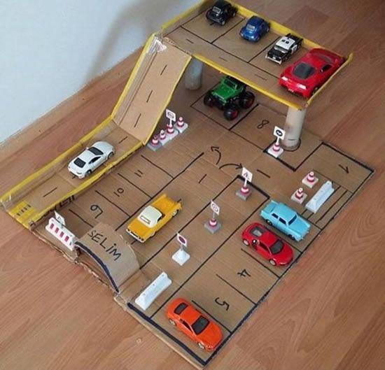 artesanato brinquedos dia criancas pista carros