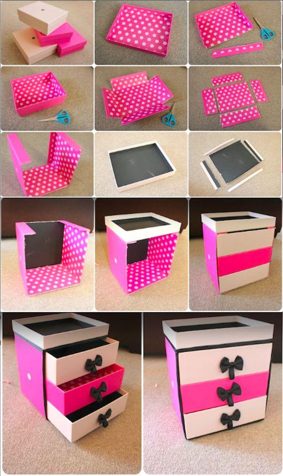 artesanato caixas sapatos diy 1