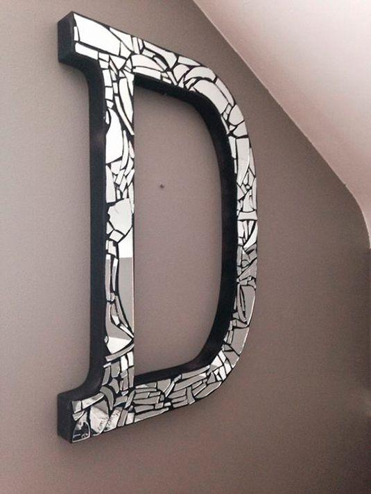 artesanato espelho quebrado letra