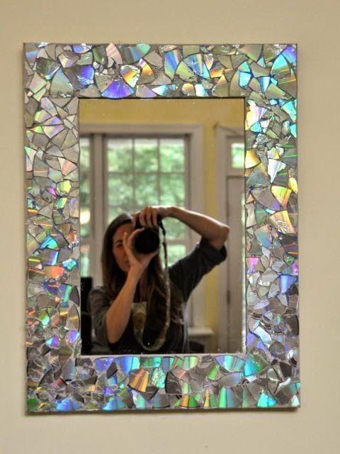 artesanato espelho quebrado