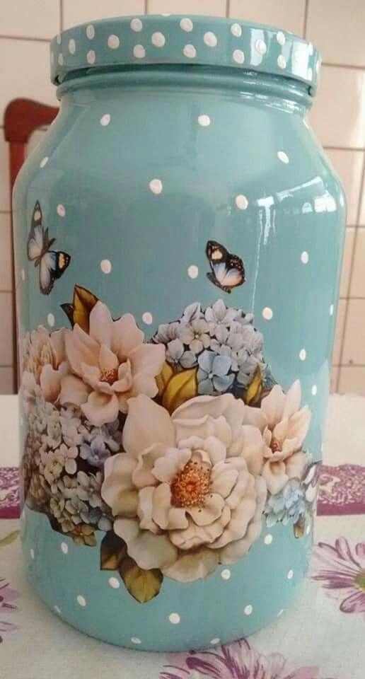 artesanato frasco vidro 7