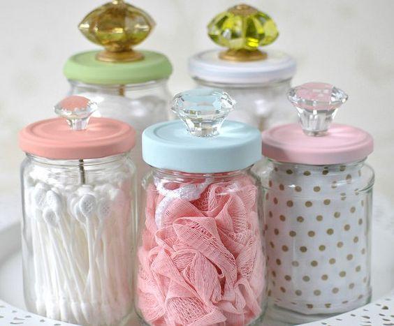 artesanato frasco vidro
