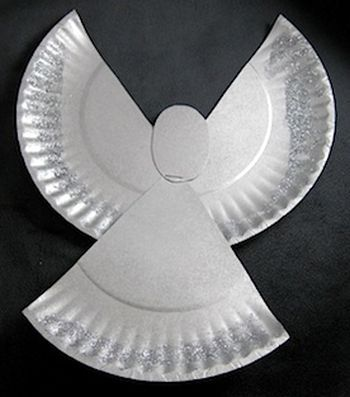 artesanato natal pratos descartáveis anjo