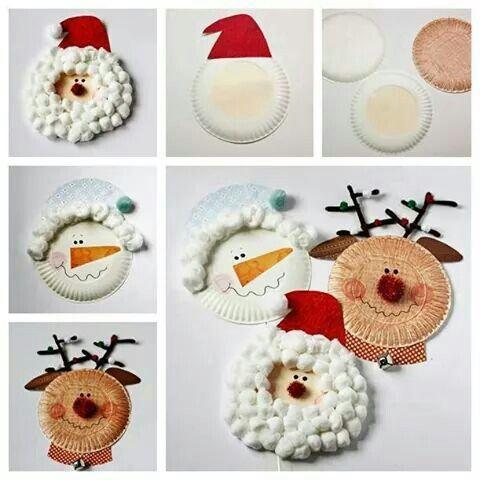 artesanato natal pratos descartáveis