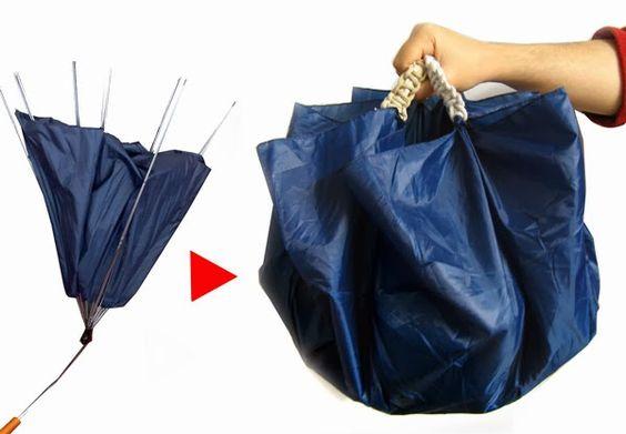 artesanato reciclar guarda chuva 7