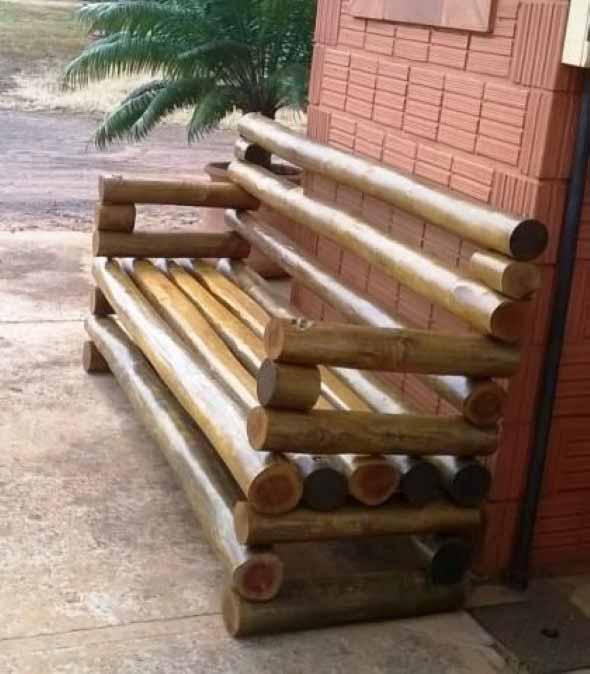 bancos artesanais bambu