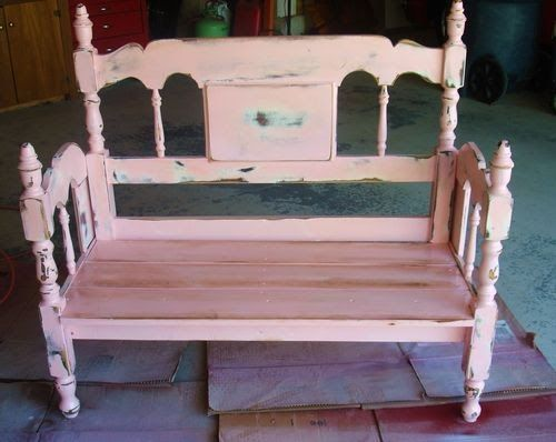 bancos artesanais cama antiga