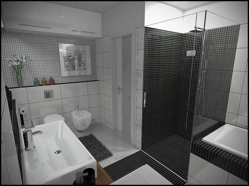 24 Mosaic Bathroom Ideas Designs: Banheiros Pequenos