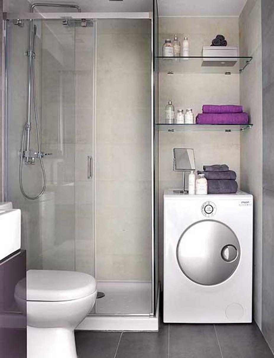 banheiro pequeno com lavandaria