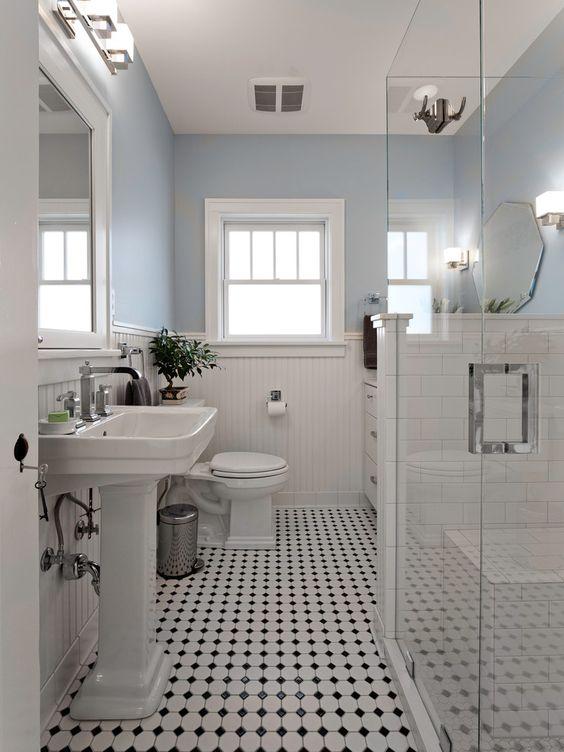 banheiros pretos brancos decorados 1