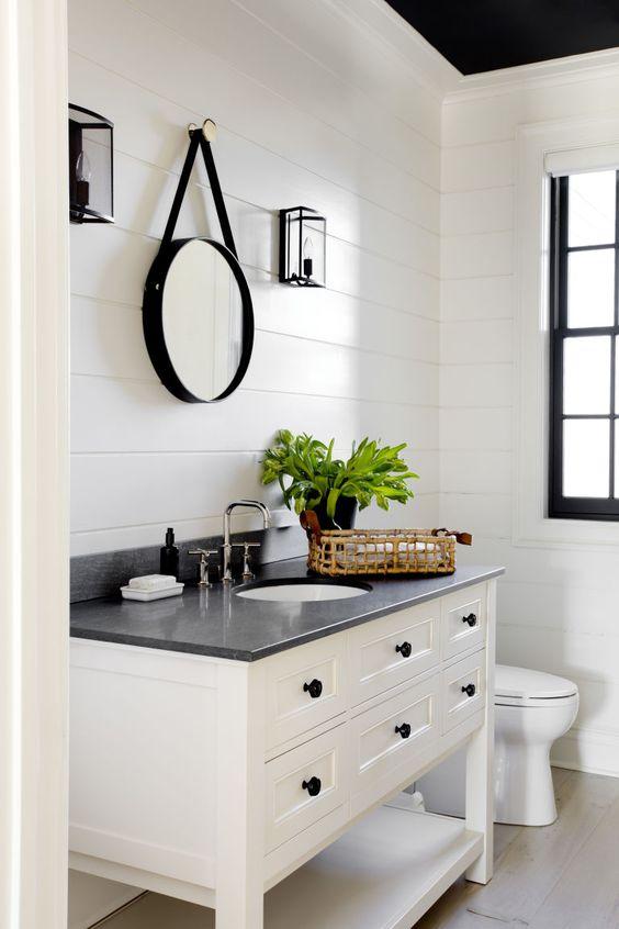 banheiros pretos brancos decorados 3