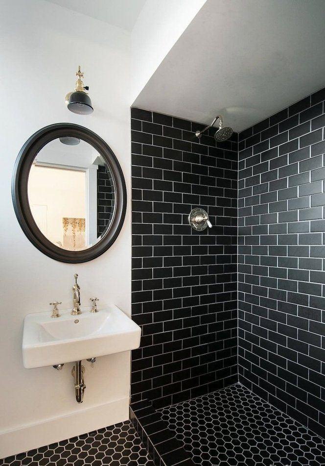 banheiros pretos brancos decorados 5