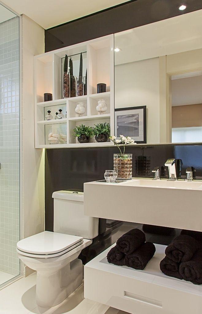banheiros pretos brancos decorados 6