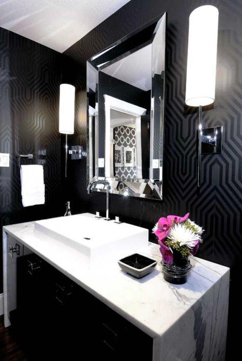 banheiros pretos brancos decorados 9