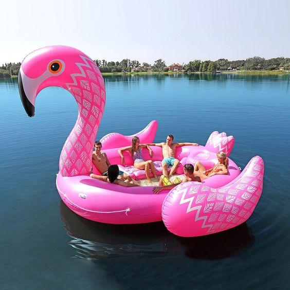 boias piscina divertidas originais flamingo