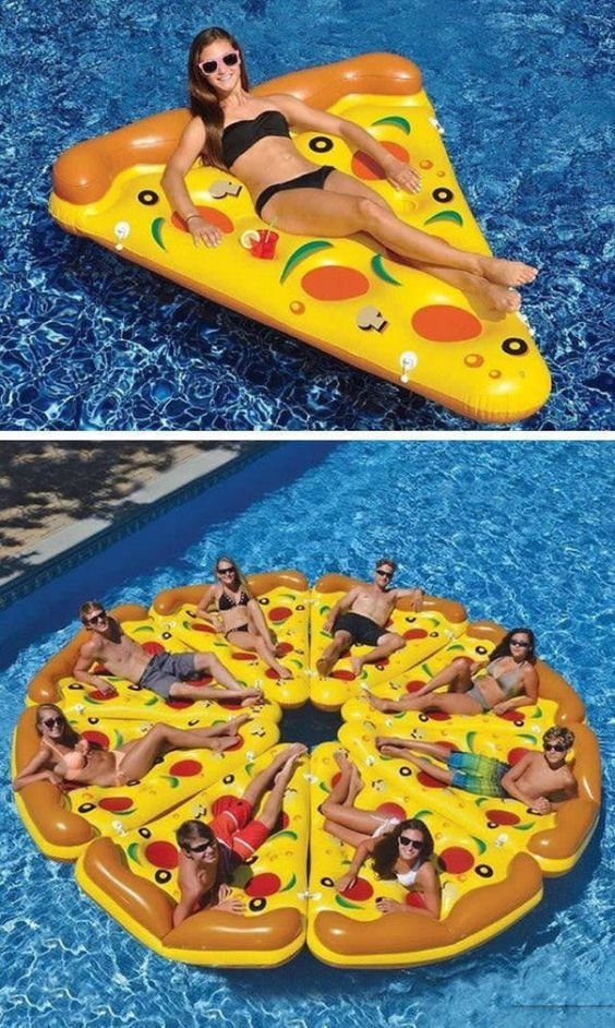 boias piscina divertidas originais pizza