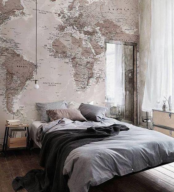 cabeceira cama papel parede 1