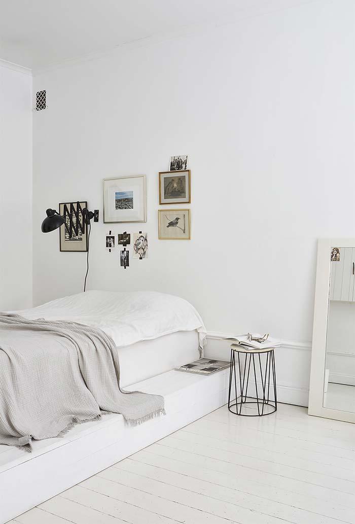 cama japonesa moderna branca